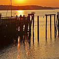 Salem Ma Fishing At Sunrise Sunny by Toby McGuire