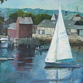 Saling In Rockport Ma by Claire Gagnon