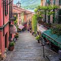 Salita Serbelloni Bellagio Italy by Joan Carroll