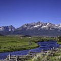 Salmon River And Sawtooth Mountains by Daryl L Hunter