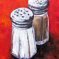 Salt And Pepper On Red by Torrie Smiley