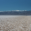 Salt Flats At Badwater Basin by Michael Bessler