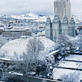 Salt Lake City Tabernacle And Temple by Marilyn Hunt