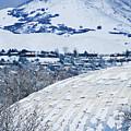 Salt Lake City Tabernacle In Snow by Marilyn Hunt