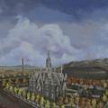 Salt Lake City Temple Square Nineteen Twelve Left Panel by Jeff Brimley