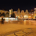 Salt Square In Wroclaw At Night by Artur Bogacki