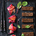 Salted Salmon With Beetroot  by Natasha Breen