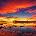 Salton Sea Sunset by Peter Tellone