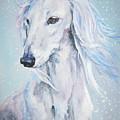 Saluki White Beauty by Lee Ann Shepard