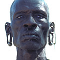 Samburu Warrior In Kenya by Carl Purcell