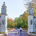 Sample Gates At University Of Indiana by Ken Wolter
