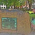 Samuel Adams Gravestone At Granary Burying Ground In  Boston-massachusetts by Ruth Hager