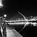 Samuel Beckett Bridge 2 Bw by Alex Art and Photo