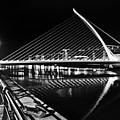 Samuel Beckett Bridge 5 Bw by Alex Art and Photo