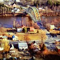Samuel Morley Bridge Fairlee Vt To Orford Nh by Frank Wilson