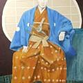 Samurai-san -- Portrait Of Japanese Warrior by Jayne Somogy