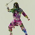 Samurai With A Sword by Naxart Studio
