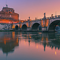 San Angelo Bridge And Castel Sant Angelo by Henk Meijer Photography