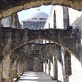San Antoniio Spanish Mission by Myrna Salaun