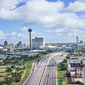 San Antonio City View -color Canvas Print by Tod and Cynthia Grubbs