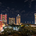 San Antonio Cityscape At Night by Tod and Cynthia Grubbs
