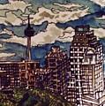San Antonio Skyline by Angela Weddle