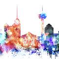 San Antonio Skyline by Dim Dom