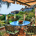 San Clemente Estate Patio by Kathy Tarochione