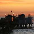 San Clemente Pier Sunset by Brad Scott
