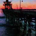 San Clemente Pier Sunset by Steve Brown