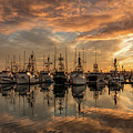 San Diego Fishing Fleet At Sunset by Charles Morra