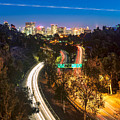 San Diego Freeway At Night by James Udall