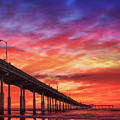 San Diego Ocean Beach Pier Sunset by Gigi Ebert
