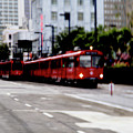 San Diego Red Trolley by Linda Shafer