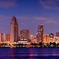 San Diego Skyline At Dusk by Jon Holiday