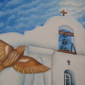 San Elizario On A Moonlit Morning by Jeniffer Stapher-Thomas