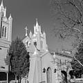 San Felipe De Neri Church - Old Town Albuquerque New Mexico Black And White by Gregory Ballos