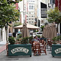 San Francisco - Maiden Lane - Outdoor Lunch At Mocca Cafe - 5d17932 by Wingsdomain Art and Photography