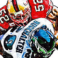 San Francisco 49ers Patrick Willis Philadelphia Eagles Correll Buckhalter  by Jack K