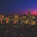 San Francisco At Sunset by Library Of Congress