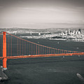 San Francisco Bay And Golden Gate Bridge In Selective Color by James Udall