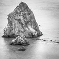 San Francisco Bay Area Rocks - Black And White by Gregory Ballos