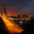 San Francisco Bay Bridge At Sunset by Pierre Leclerc Photography