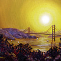 San Francisco Bay In Golden Glow by Laura Iverson