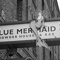 San Francisco Blue Mermaid Bw by Frank Romeo