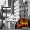 San Francisco - Red Cable Car by Peter Potter