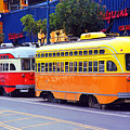 San Francisco Trolley Cars by Frank Romeo