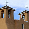 San Francisco De Asis Mission Bell Towers by Catherine Sherman