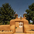 San Francisco De Assisi Mission Church Taos New Mexico by Lawrence S Richardson Jr
