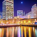 San Francisco Downtown City Skyline At Night by Alex Grichenko